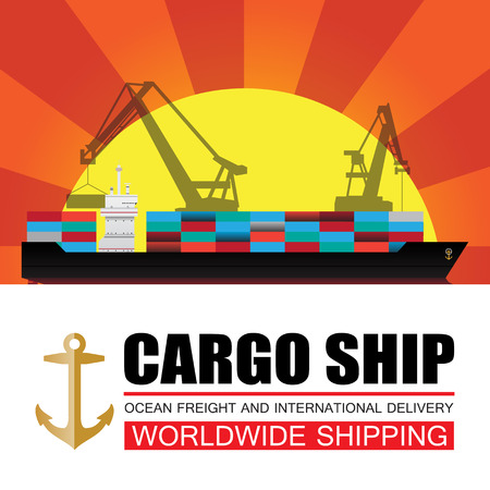 Worldwide shipping,cargo,Logistics Vector