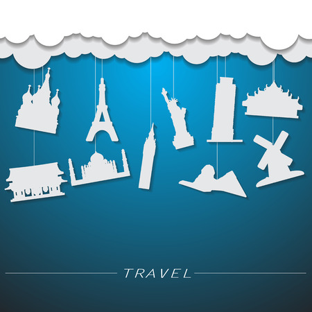 townscape: travel landmark background