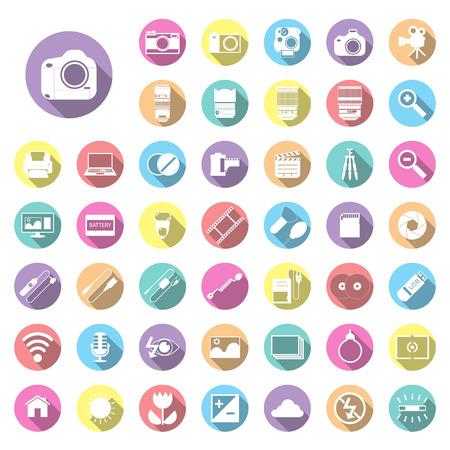 Photography camera icons