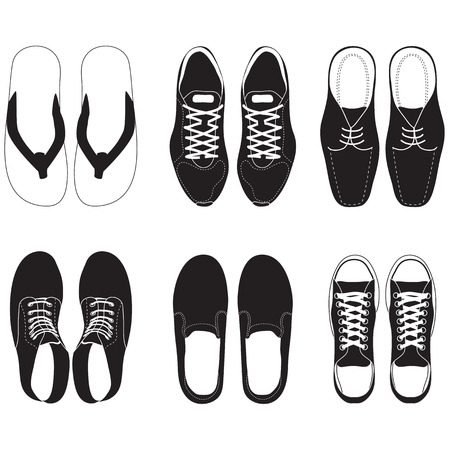 leather shoe: shoes set Illustration