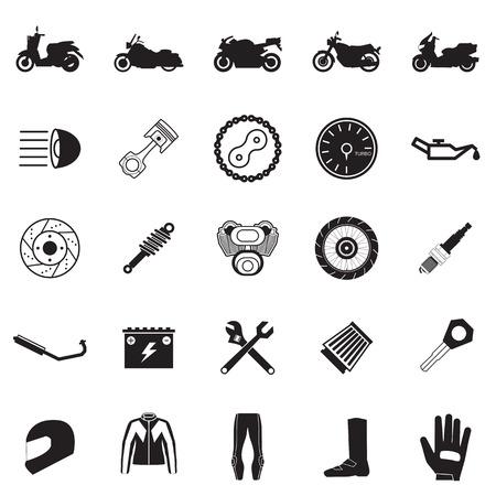 Motorrad-Teil-und Einzelteilsatz