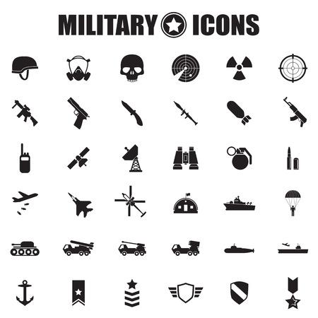 Icônes militaire s'installe Banque d'images - 30144933