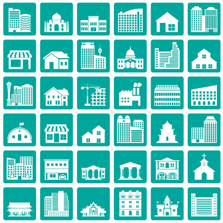 Iconos de construcción establecido Ilustración de vector