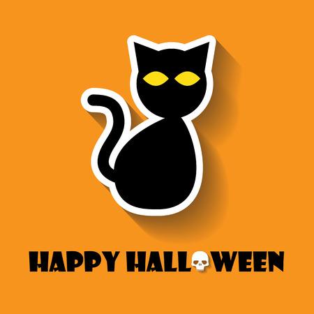 moggy: cat halloween icon Illustration