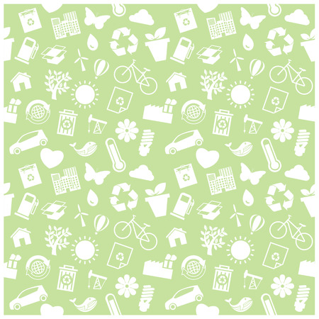 Ecology and recycle icons, Background Vector