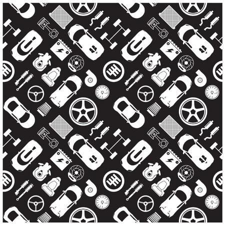 repuestos de carros: Iconos de piezas de automóviles y Antecedentes