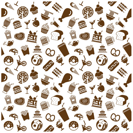 food and drink icons and Background Vector