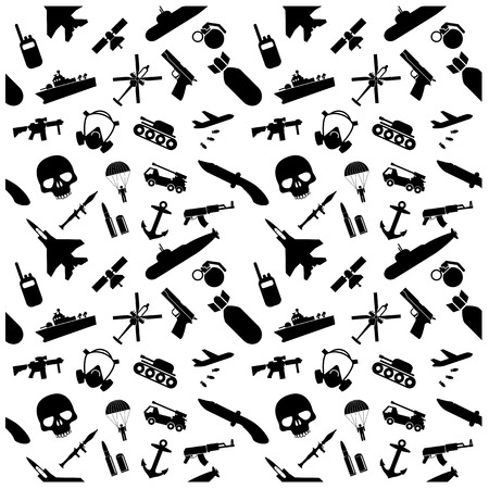 Military icons and Background Vector