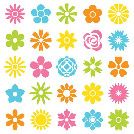 flower icon set