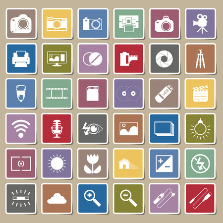 neutral density filter: Photography camera icons Sticker
