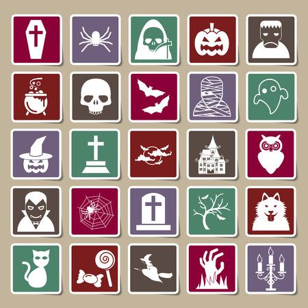 halloween icons Sticker Vector