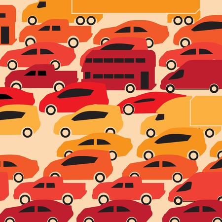 Traffic jam Vectores