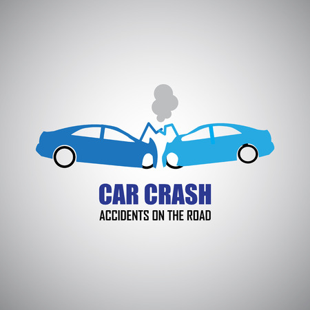 car transportation: car crash and accidents icons Illustration
