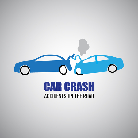 car crash and accidents icons Vector