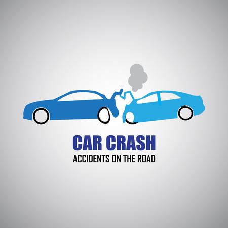 car crash: car crash and accidents icons Illustration