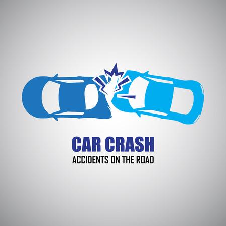 repuestos de carros: accidente de coche y accidentes iconos