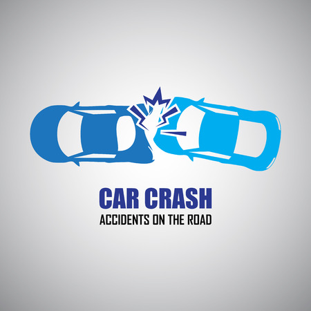 car security: car crash and accidents icons Illustration