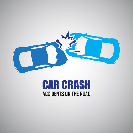 car breakdown: car crash and accidents icons Illustration