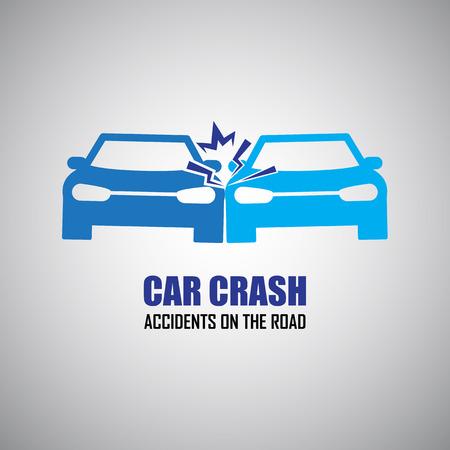 piezas coche: accidente de coche y accidentes iconos