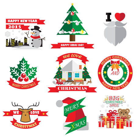 christmas ornaments and decoration Vector