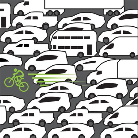 rush hour: Bike at rush hour