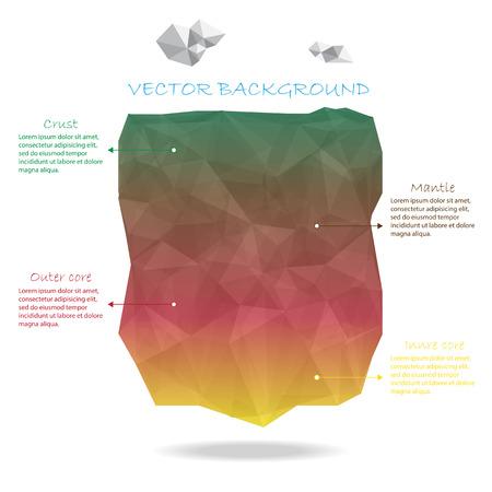 earth crust vector Vector