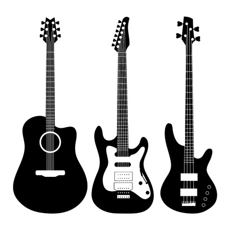 Electric Guitar vector Çizim