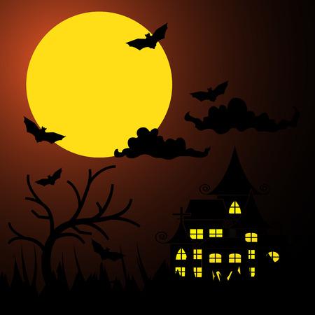 halloween Background, Events Vector