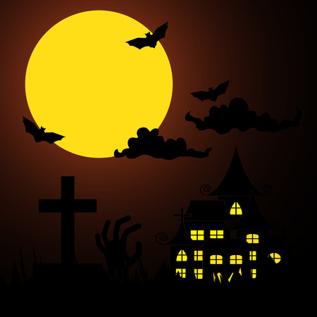 chateau: halloween Events Background Illustration