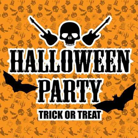 halloween party poster background Vector