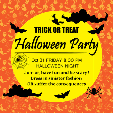 chateau: halloween party poster background