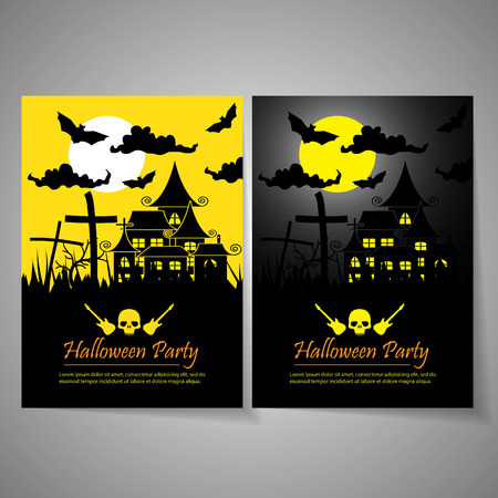 halloween poster: halloween party poster background