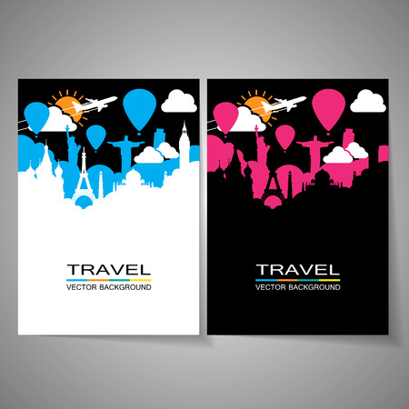 Travel around the world Illustration