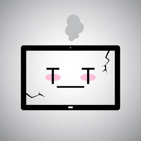 sick Tablet icon Vector