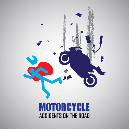breakdown: Motorcycle crash and accidents icons