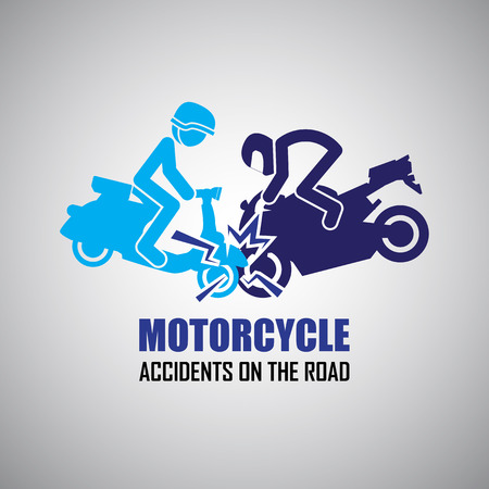 accident dead: Motorcycle crash and accidents icons