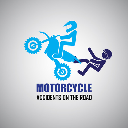 Motorcycle  accidents icons Vector