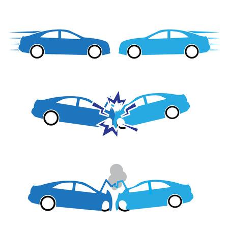 自動車事故と事故  イラスト・ベクター素材