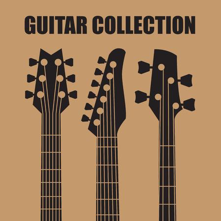 Guitares vectorielles Banque d'images - 33540174