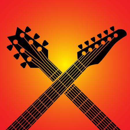 jazz guitar: Vector guitars Illustration