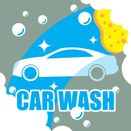 Autowasch-Vektor Standard-Bild - 33540179