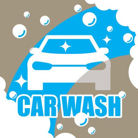wash drawing: Car wash vector
