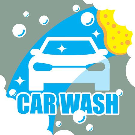colada: Lavado de coches vector