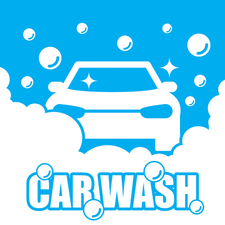 car plate: Car wash vector