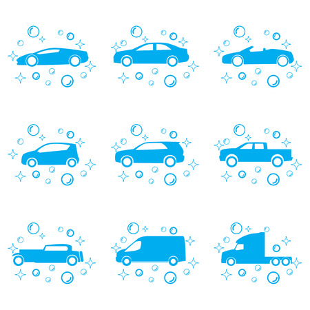 dirty car: Car wash vector