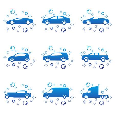 car clean: Car wash vector