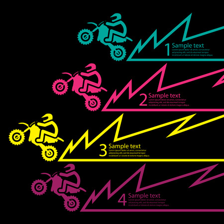 motocross riders: race motorcycle Illustration