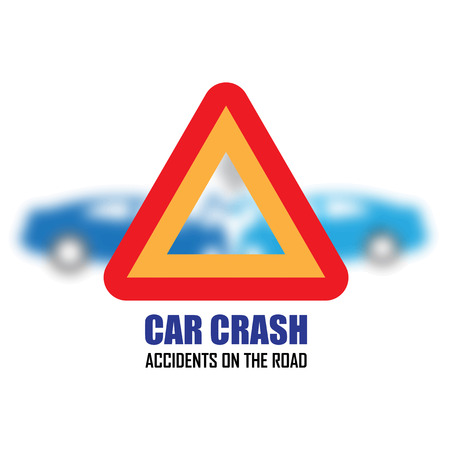 car accident: car crash and accidents icons Illustration