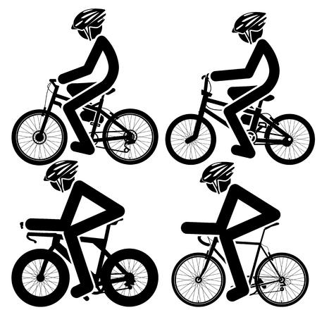 helmet bike: biker Icons set. Vector Illustration Illustration
