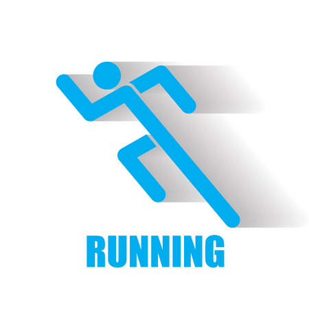 young woman running: running icon